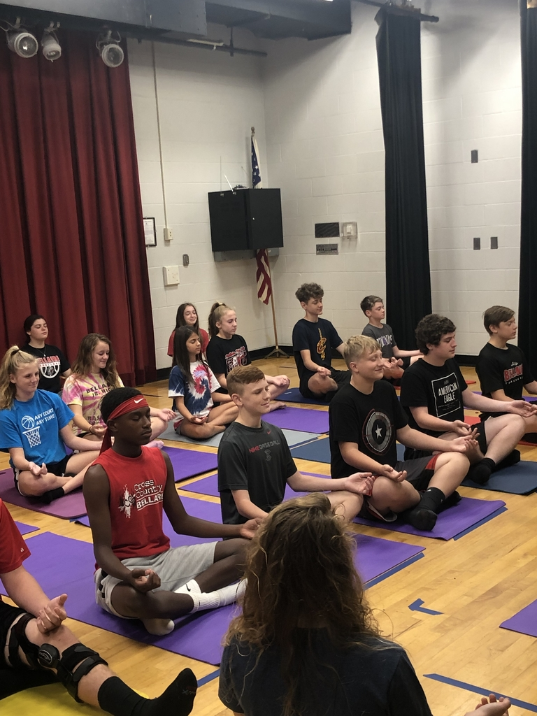 BMS Adv. PE class learned YOGA today!